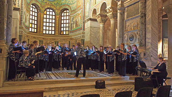 choir singing in Basilica of San Vitale, Ravenna