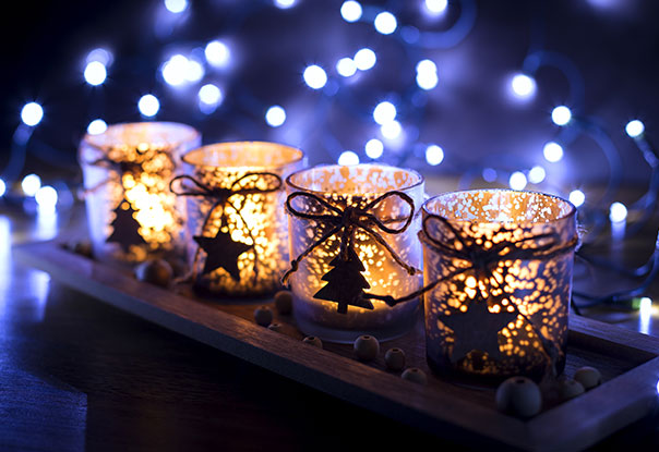 photo of Christmas votive candles