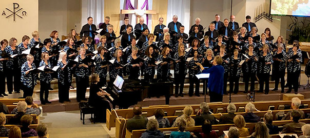 photo of Amabilis choir taken in April, 2019